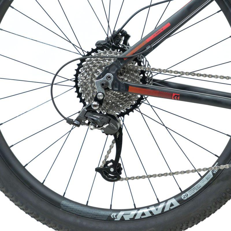 Bicicleta Rava Pressure Aro 29 20V - Preta e Vermelha