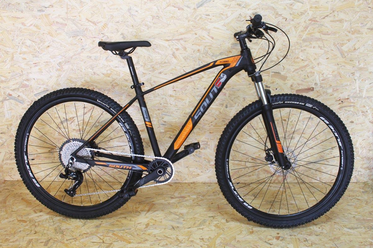 Bicicleta South XC880 Aro 29 12V - Preta e Laranja
