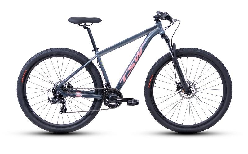 Bicicleta TSW Ride Plus Aro 29 21V - 2021 - Cinza e Rosa
