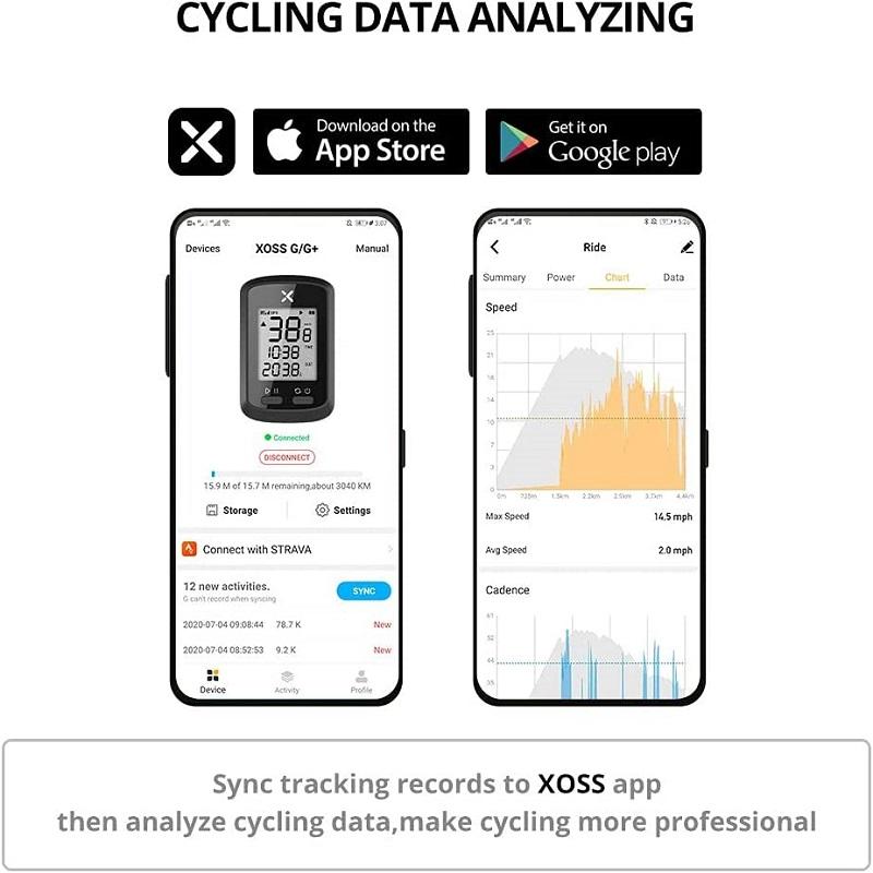 Ciclocomputador Xoss G GPS inteligente