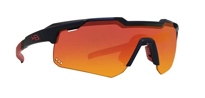 Óculos HB Shield Evo Mountain - Preto e Multi-vermelho