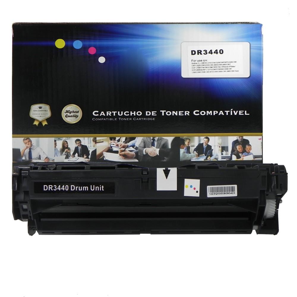Cilindro Compativel DR3440 L5000d L6400dwt Preto 30 mil páginas