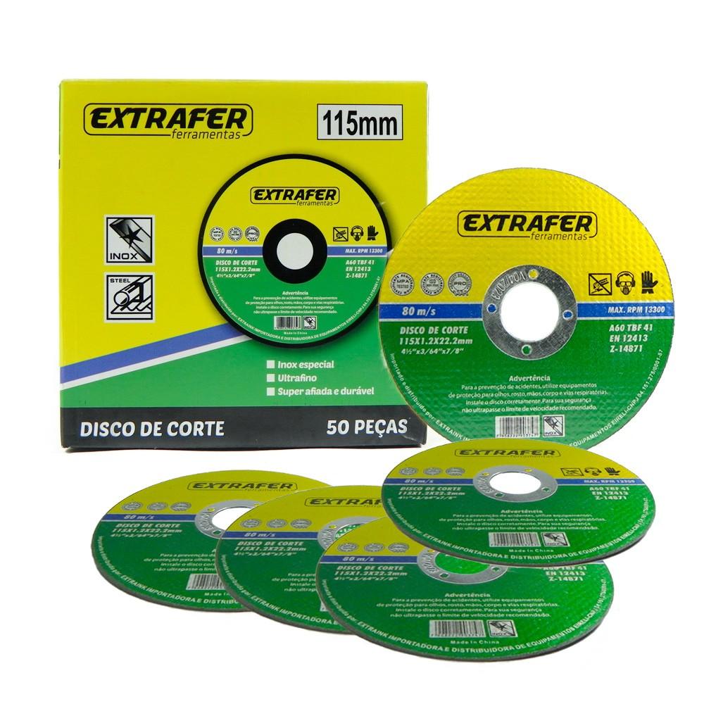 Disco de Corte Esmerilhadeira para Aço e Inox 4 1/2 115mm