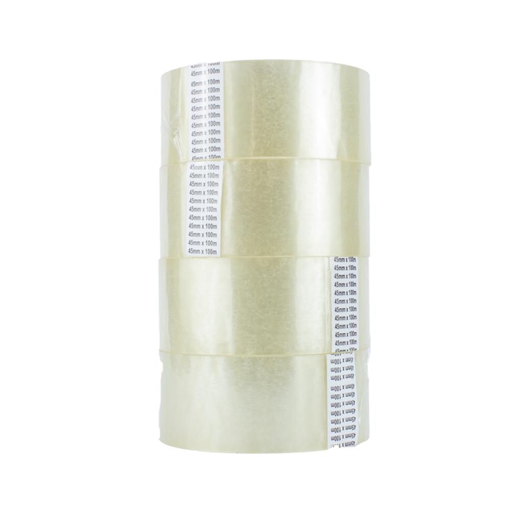 Fita Adesiva Transparente 45mm x 100m transparente com 6 unidades
