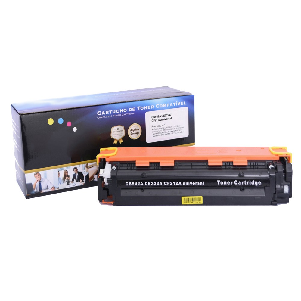 Kit Toner Compatível CE320/1/2/3 CB540/1/2/3 CF210/1/2/3 Preto e Coloridos até 2,2 mil páginas