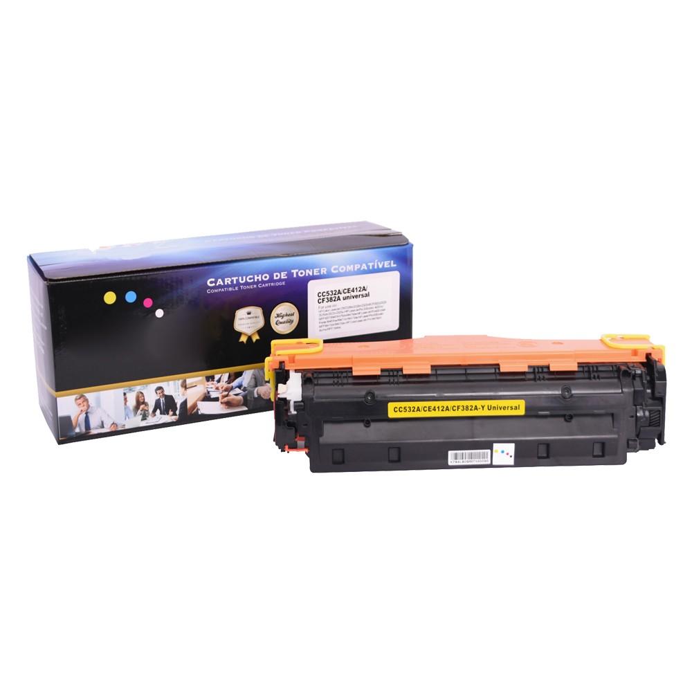Kit Toner Compatível CE410/1/2/3 CC530/1/2/3 CF380/1/2/3 Preto e Coloridos até 3,5 mil páginas