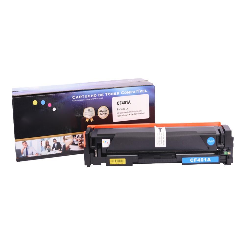 Kit Toner Compatível CF400A/1/2/3 Preto e Coloridos até 1,5 mil páginas