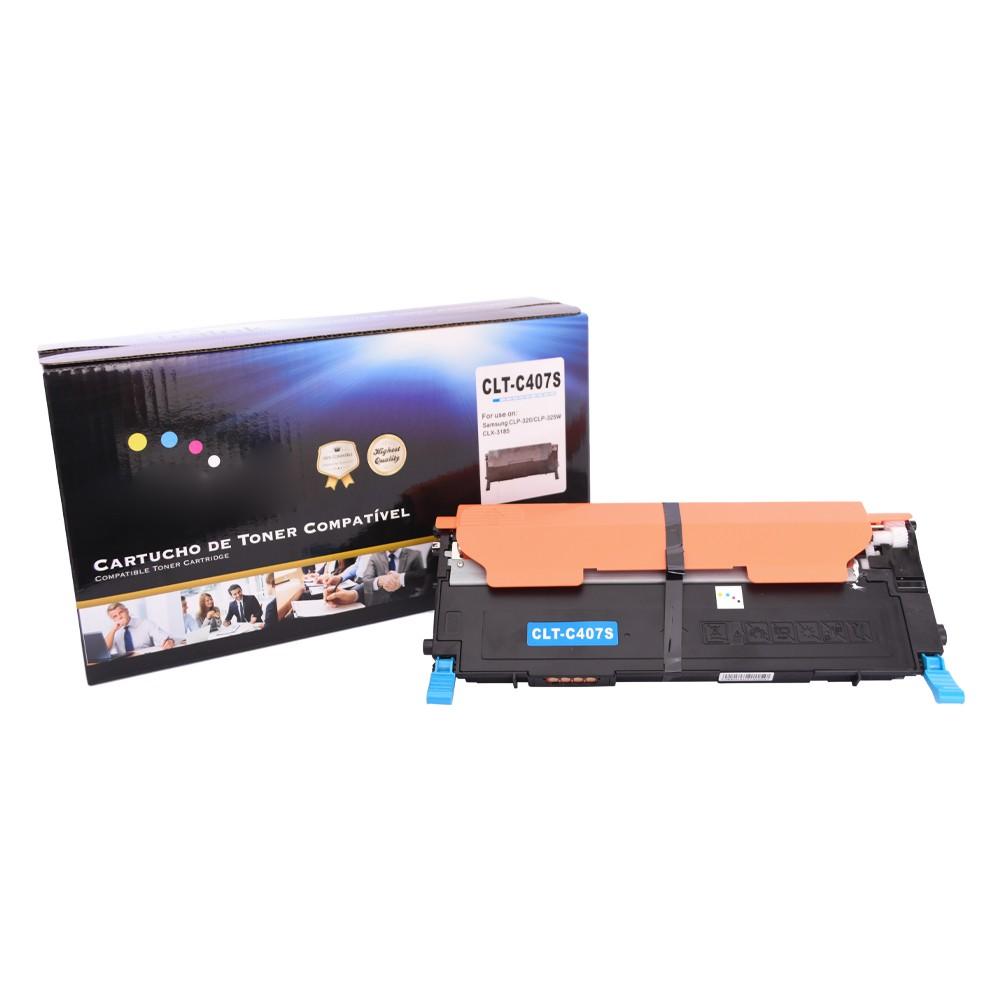 Kit Toner Compatível 407S CMY BK CLP-320 CLX-3180 até 1,5 mil paginas