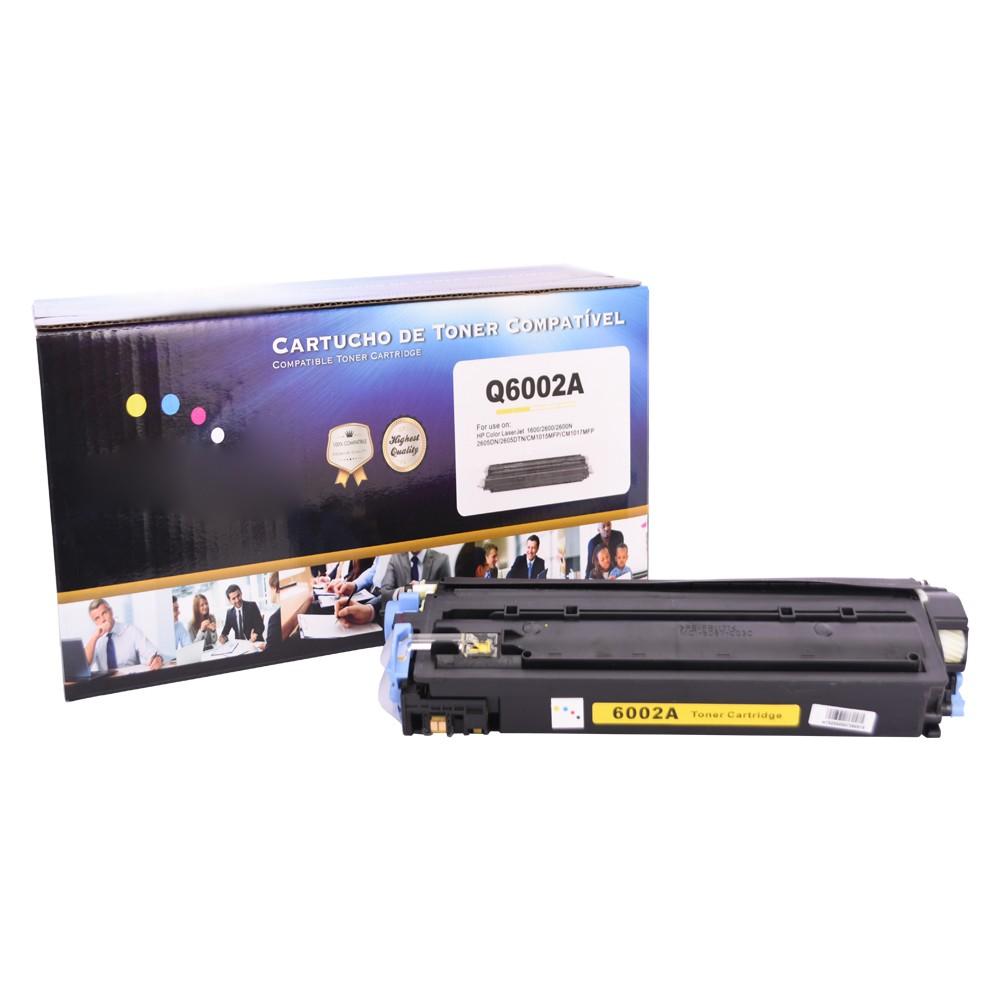 Kit Toner Q6000A/1/2/3 Compatível 2600 CM1015 Preto e Coloridos até 2,5 mil páginas