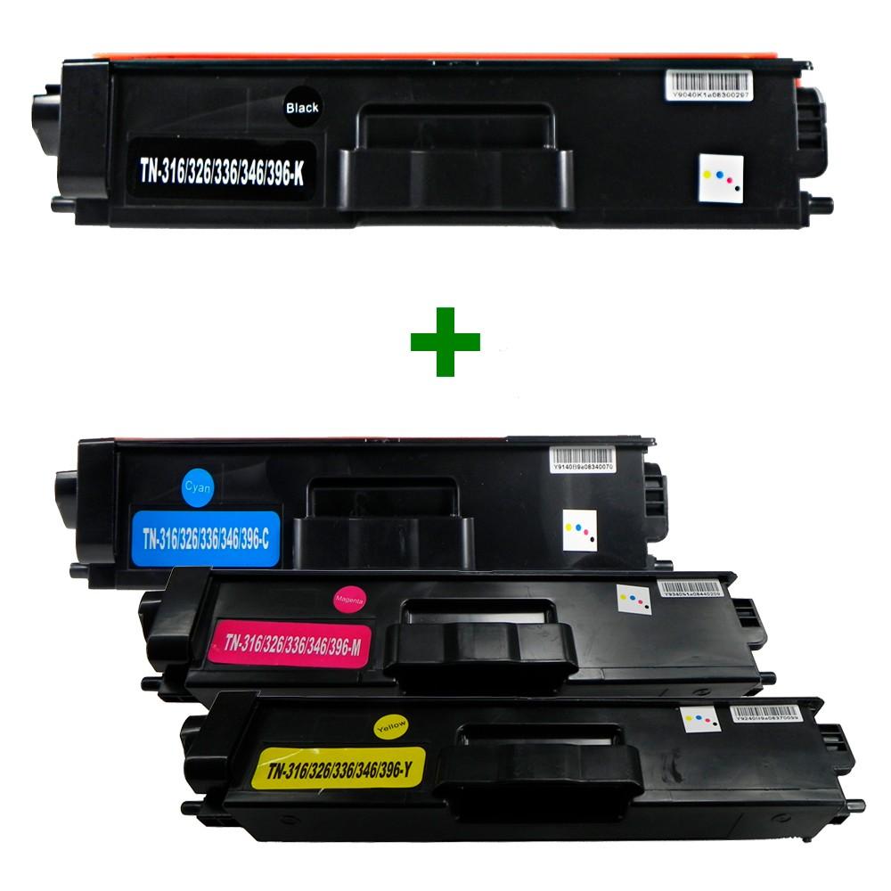 Kit Toner Compatível TN316 L8350CDW L8600CDW Preto e Coloridos até 6k