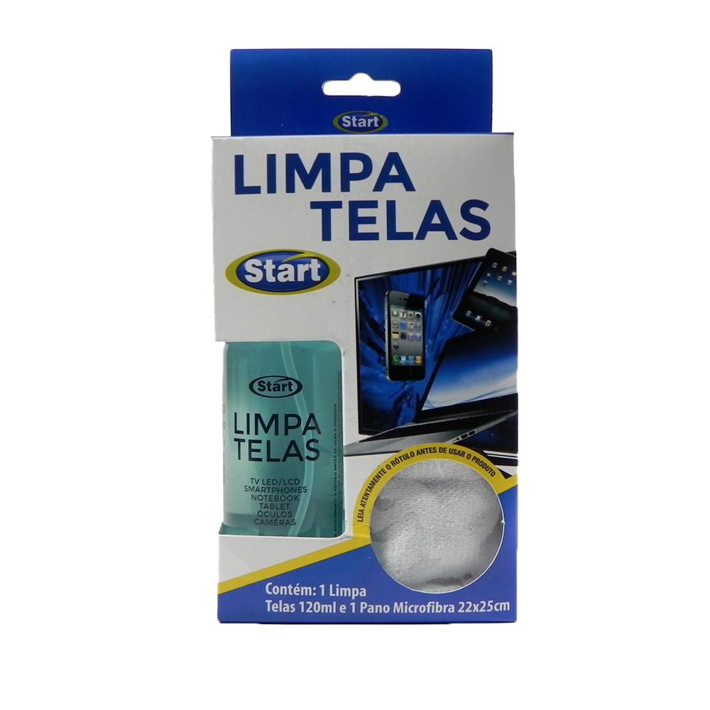 Limpa Telas Start Celular TVs Notebooks e vidros antibacteriano