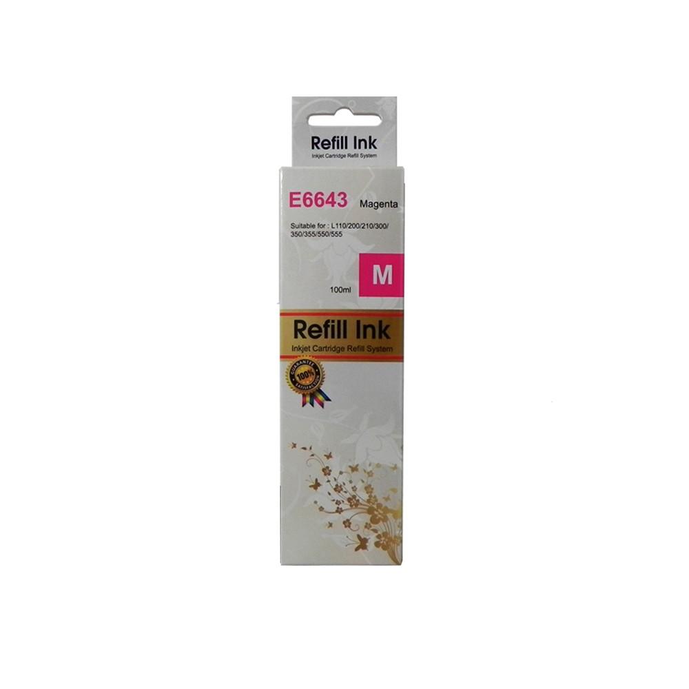 Refil de Tinta T664320 Bulk Ink L120, L200, L355, L455, L375 Magenta 6000 páginas
