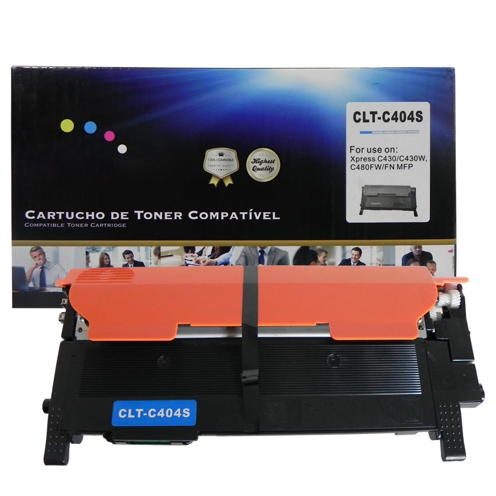 Toner Compatível C404S C433 C480 Ciano 1 mil páginas