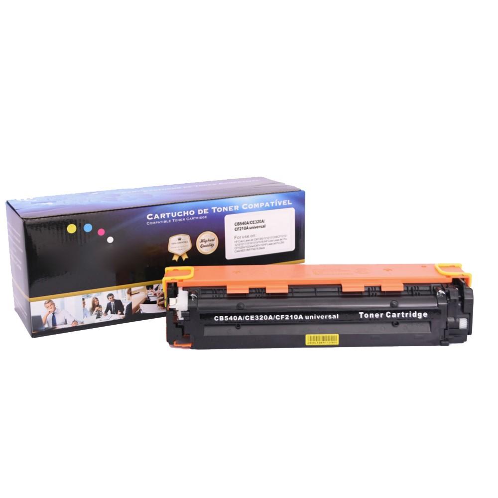 Toner Compatível CB540A CF210A Preto 2,2 mil páginas