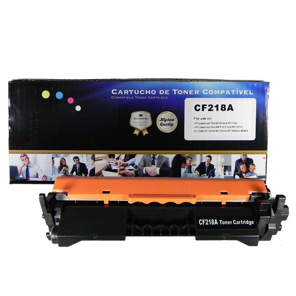 Toner Compatível CF218A M104w M132fw M132nw Preto 1,4 mil páginas