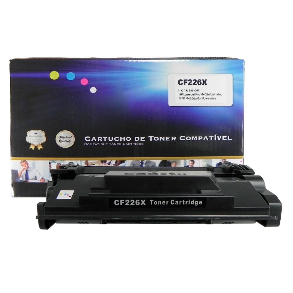 Toner Compatível CF226X Preto 9 mil páginas
