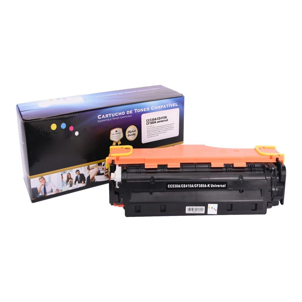 Toner Compatível CE410A CC530A CF380A CM2320 M351A Preto 3,5 mil páginas