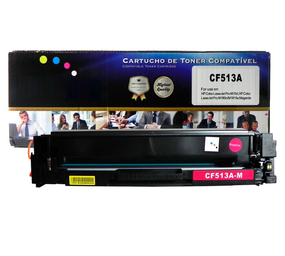 Toner Compatível CF513A M180nw Magenta 900 páginas