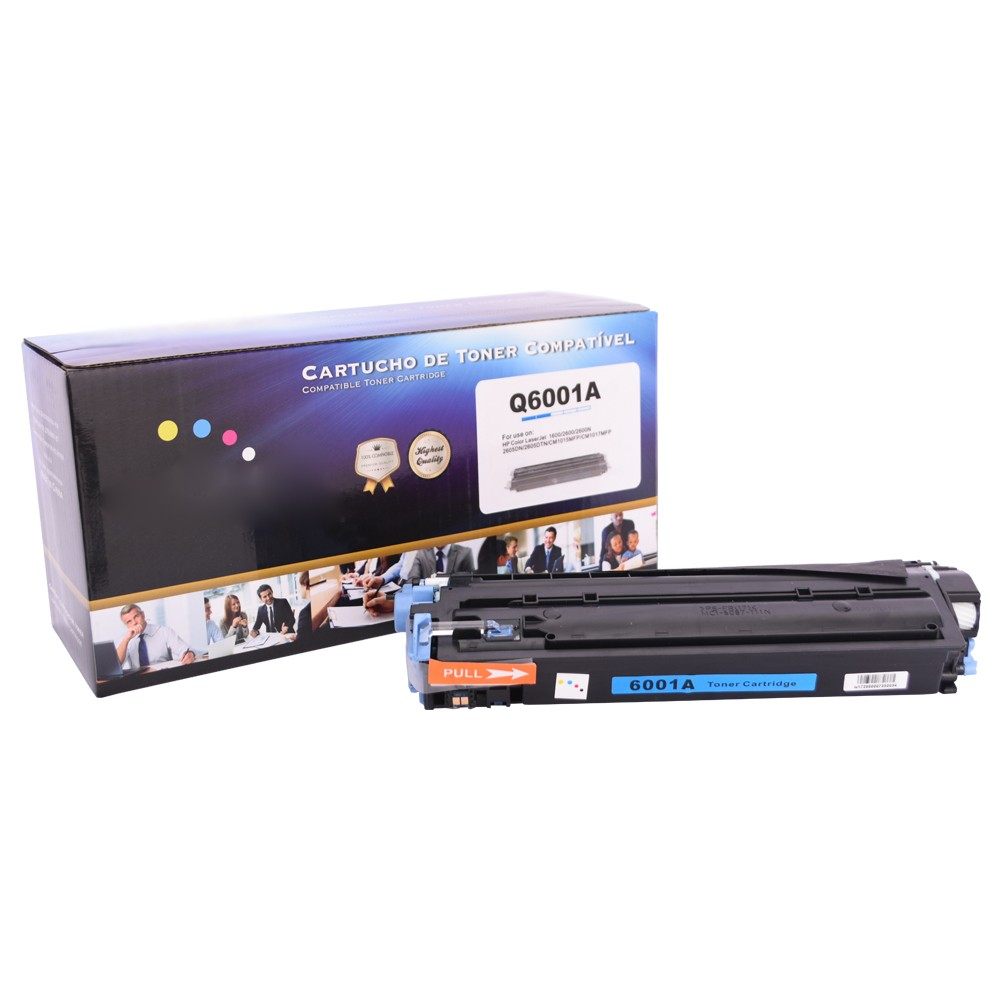 Toner Compatível Q6001A 2600 CM1015 Ciano 2 mil páginas