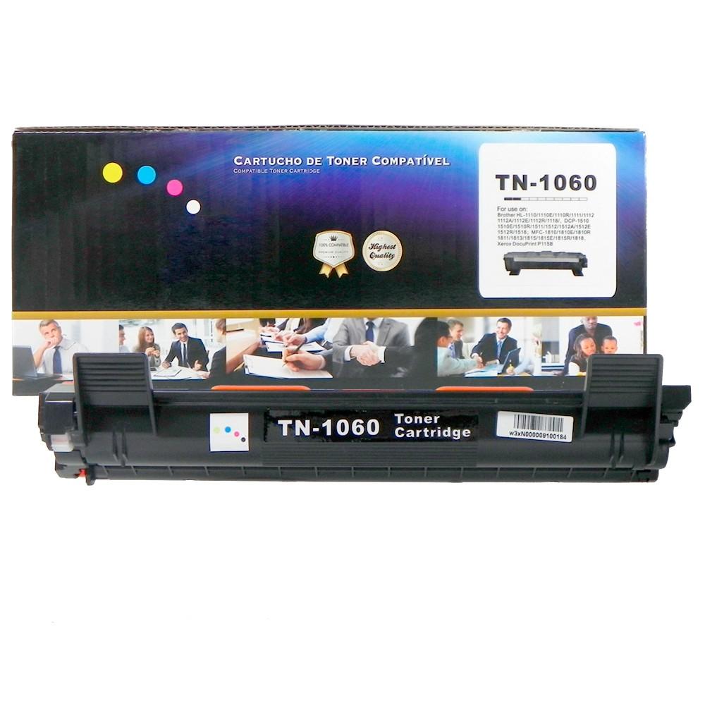 Toner Compatível TN1060 HL-1110 MFC-1810 Preto 1.5 mil paginas