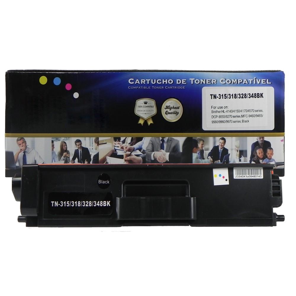 Toner Compatível TN315BK TN325 TN345 HL-4150CDN MFC-9460CDN Preto 4 mil páginas
