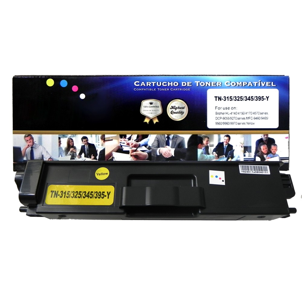 Toner Compatível TN315Y TN325 TN345 HL-4150CDN MFC-9460CDN Amarelo 3,5 mil páginas