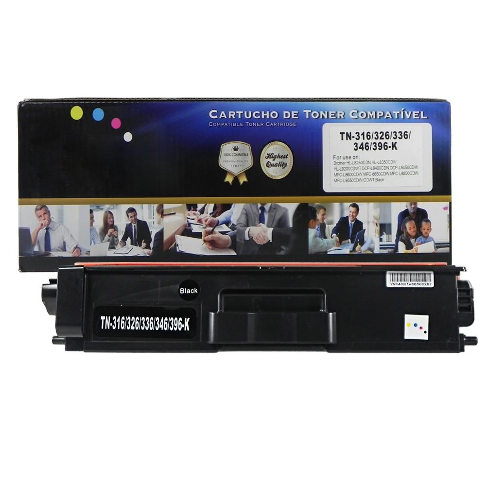 Toner Compatível TN316BK TN319 TN329 L8350CDW L8600CDW Preto 6 mil páginas