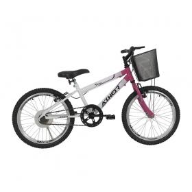 Bicicleta Athor Charmy Infantil Aro 20 S/M C/ Cesto Feminina