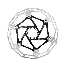 Disco Freio Rotor Sentec 180mm Inox 6 Furos Bike