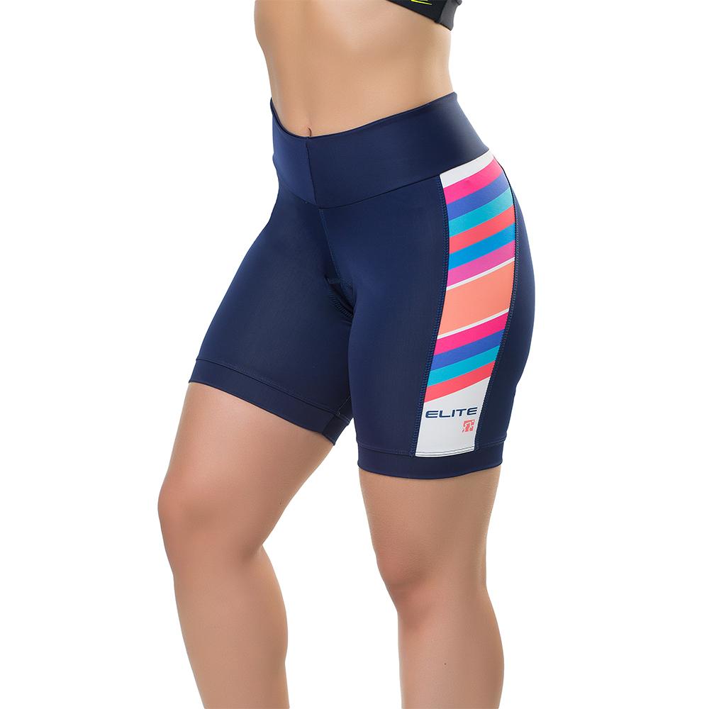 Bermuda Elite Bike Ciclismo Mtb Feminina Marinho 129004