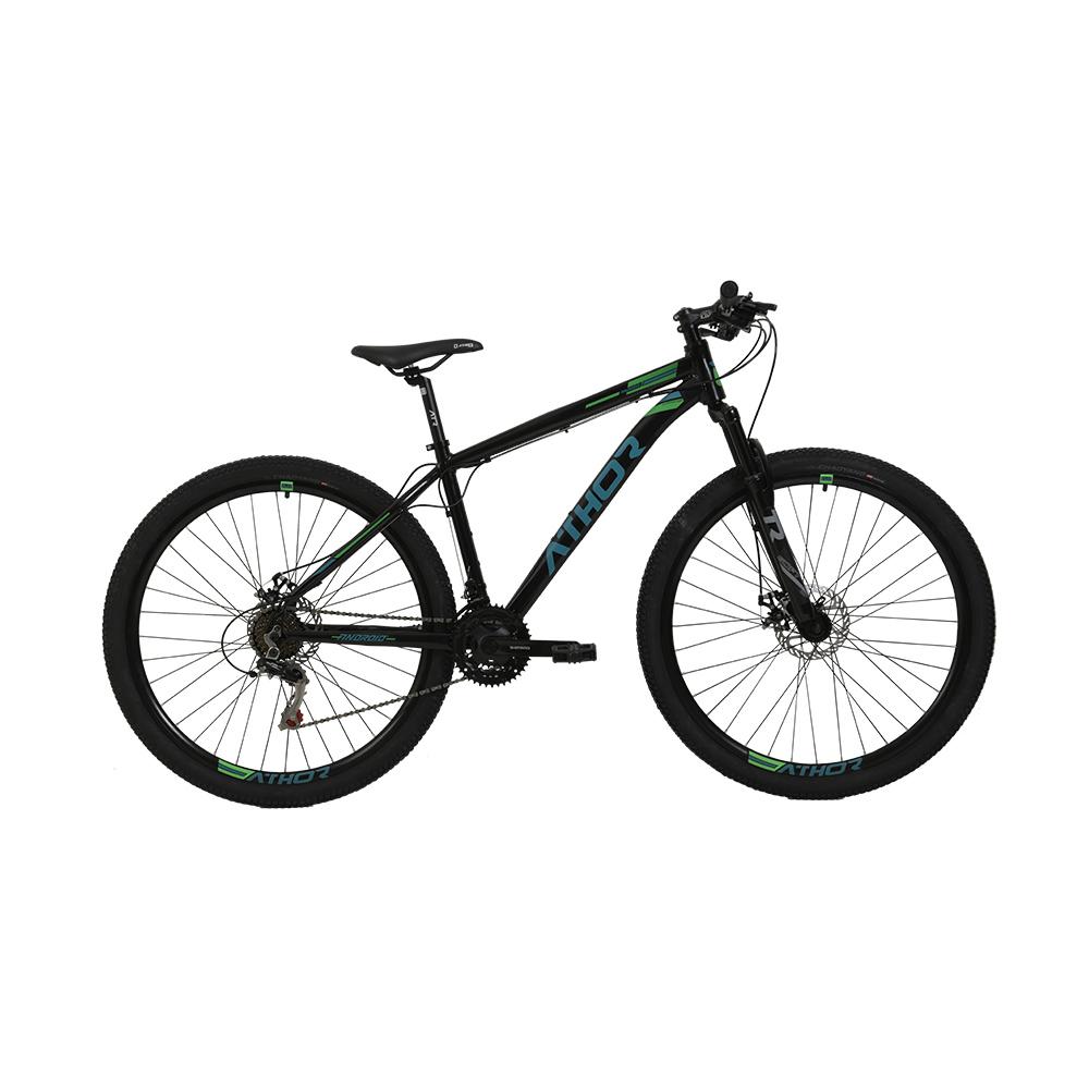 Bicicleta Aro 29 Mtb Athor Android Alumínio 21v Verde
