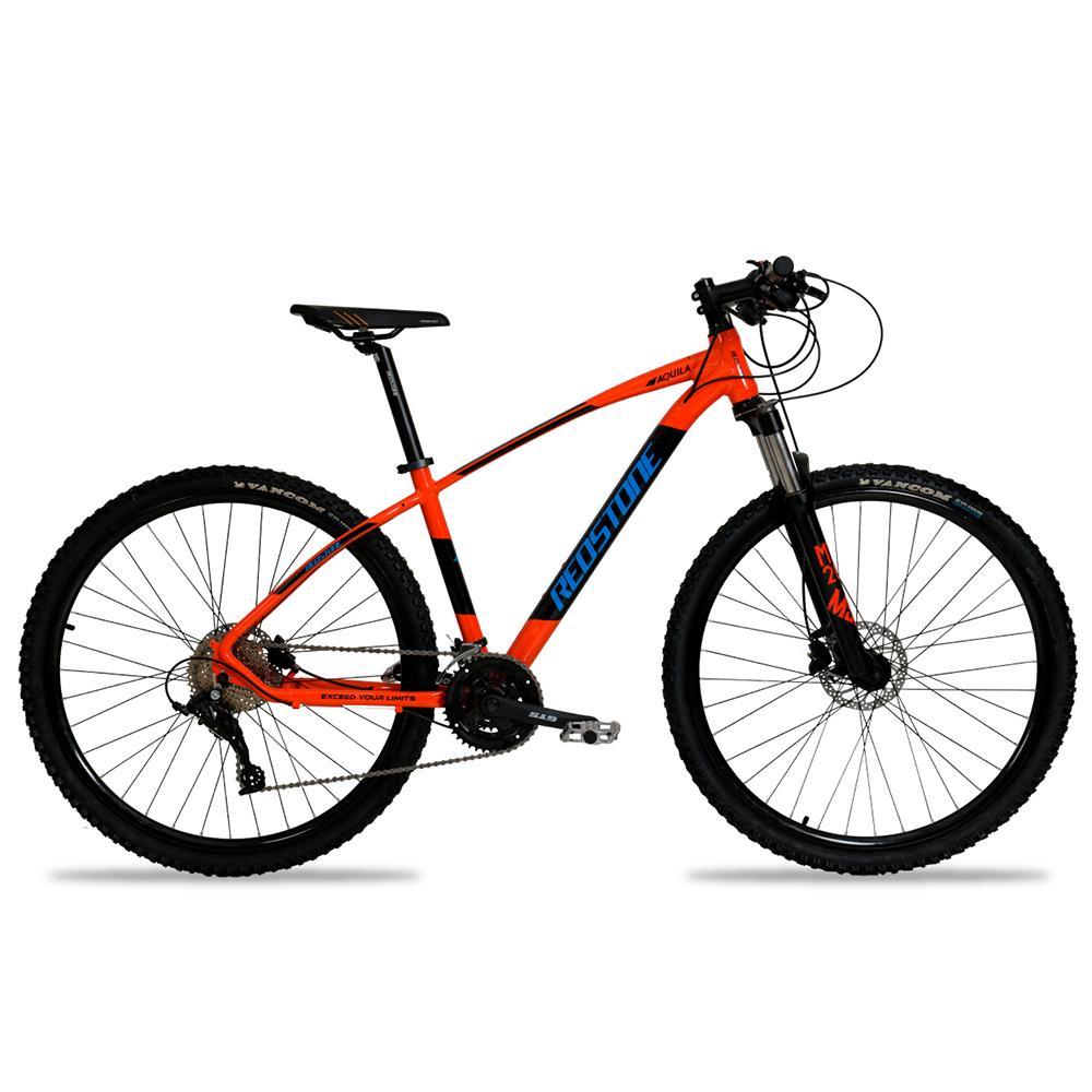 Bicicleta Aro 29 Mtb Redstone Aquila Alumínio 27v Laranja