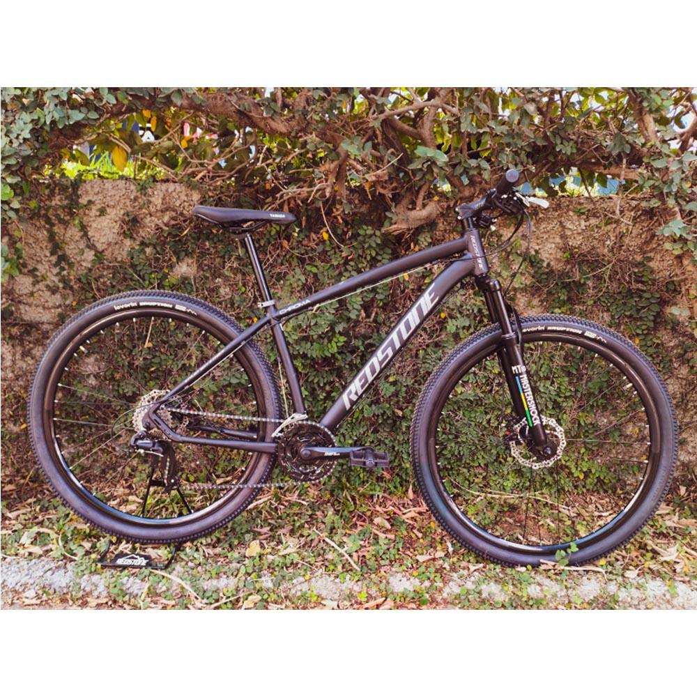 Bicicleta Aro 29 Mtb Redstone Chroma Alumínio 24v Preto