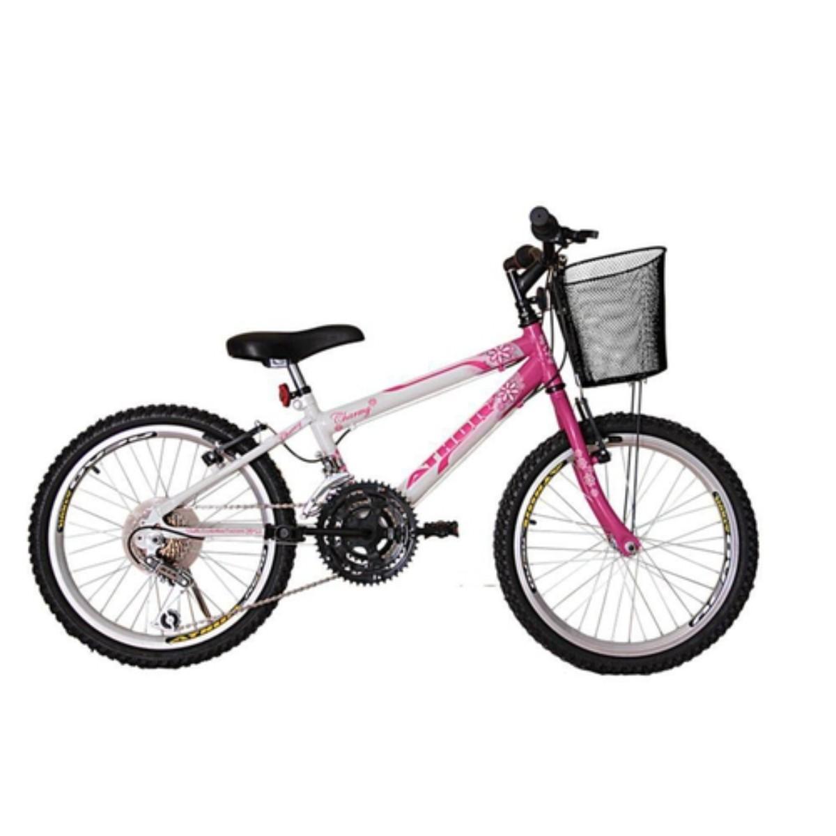 Bicicleta Athor Charmy Infantil Aro 20 18v C/ Cesto Feminina