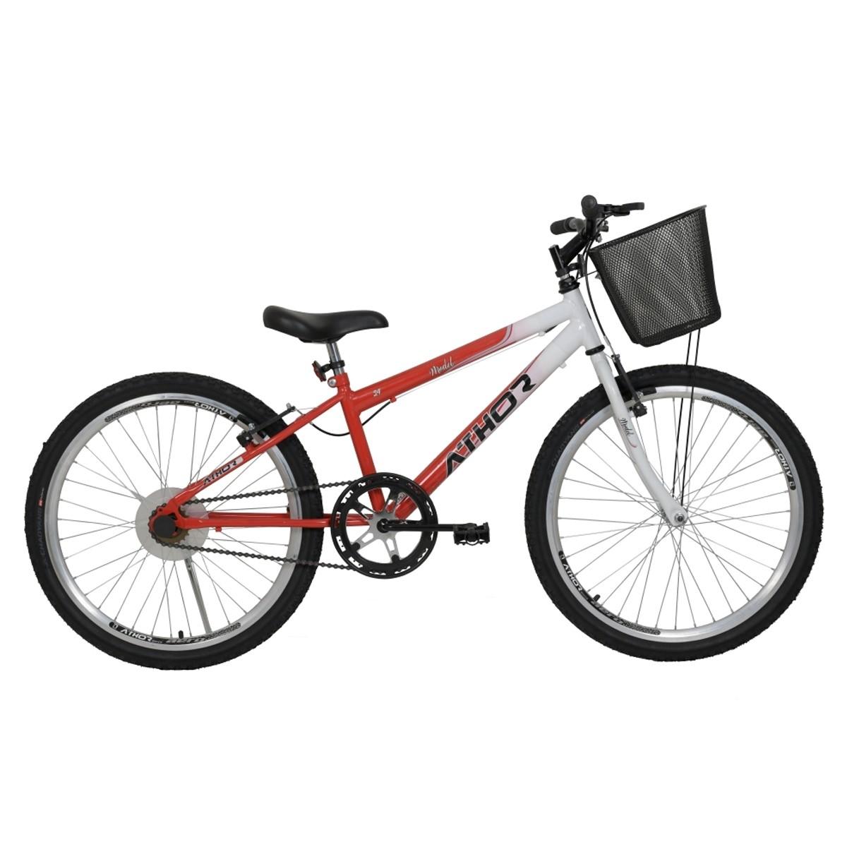 Bicicleta Athor Model Infantil Aro 24 Feminina C/ Cesto