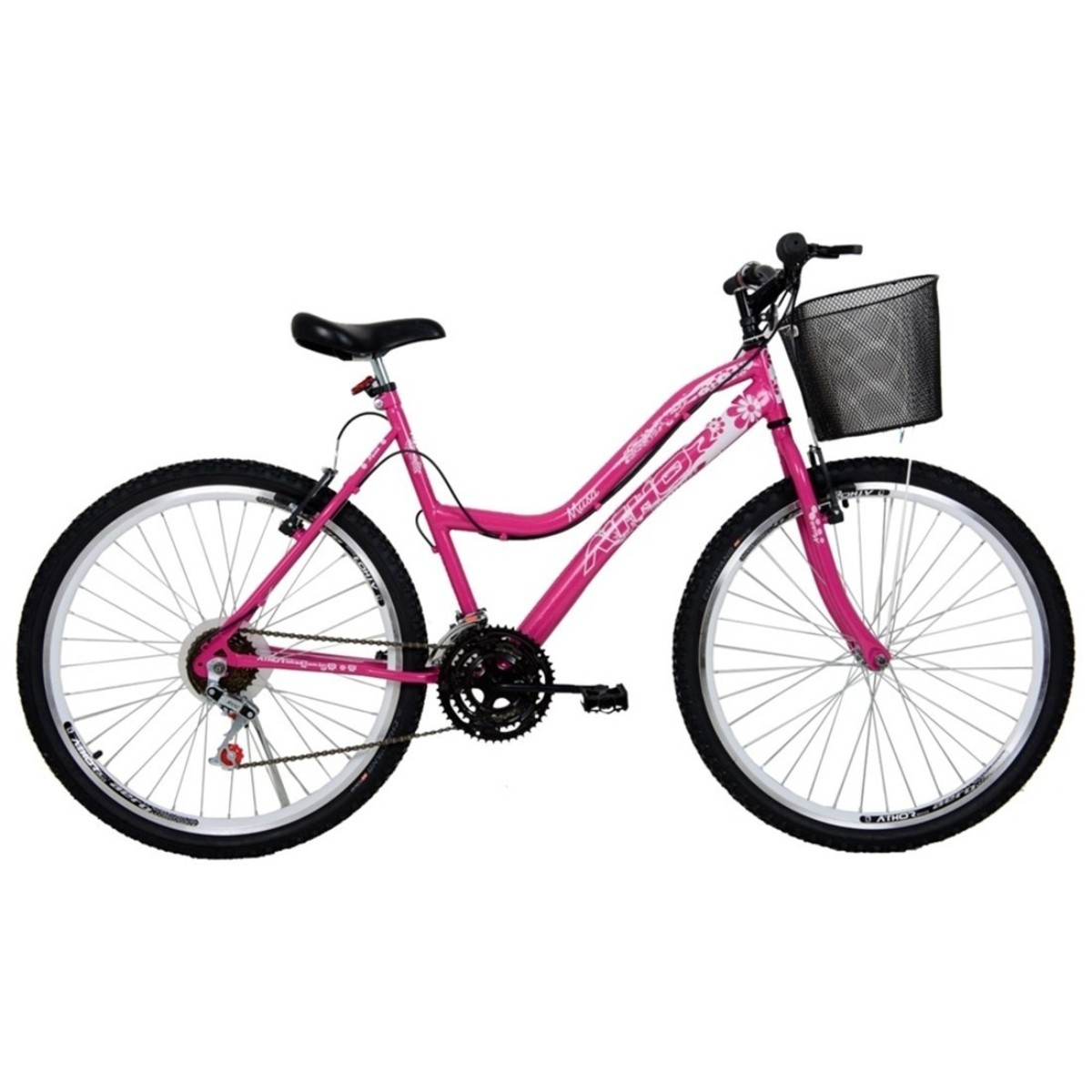 Bicicleta Athor Musa Infantil Aro 26 18v C/ Cesto Feminina