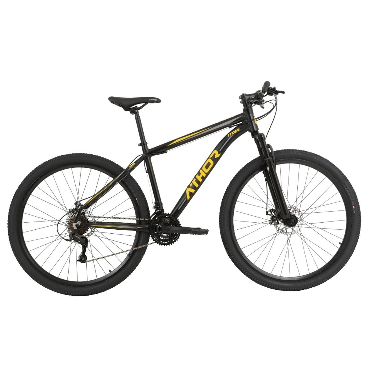 Bicicleta Athor Titan Mtb Aro 29 Atr 21v Preto Amarelo