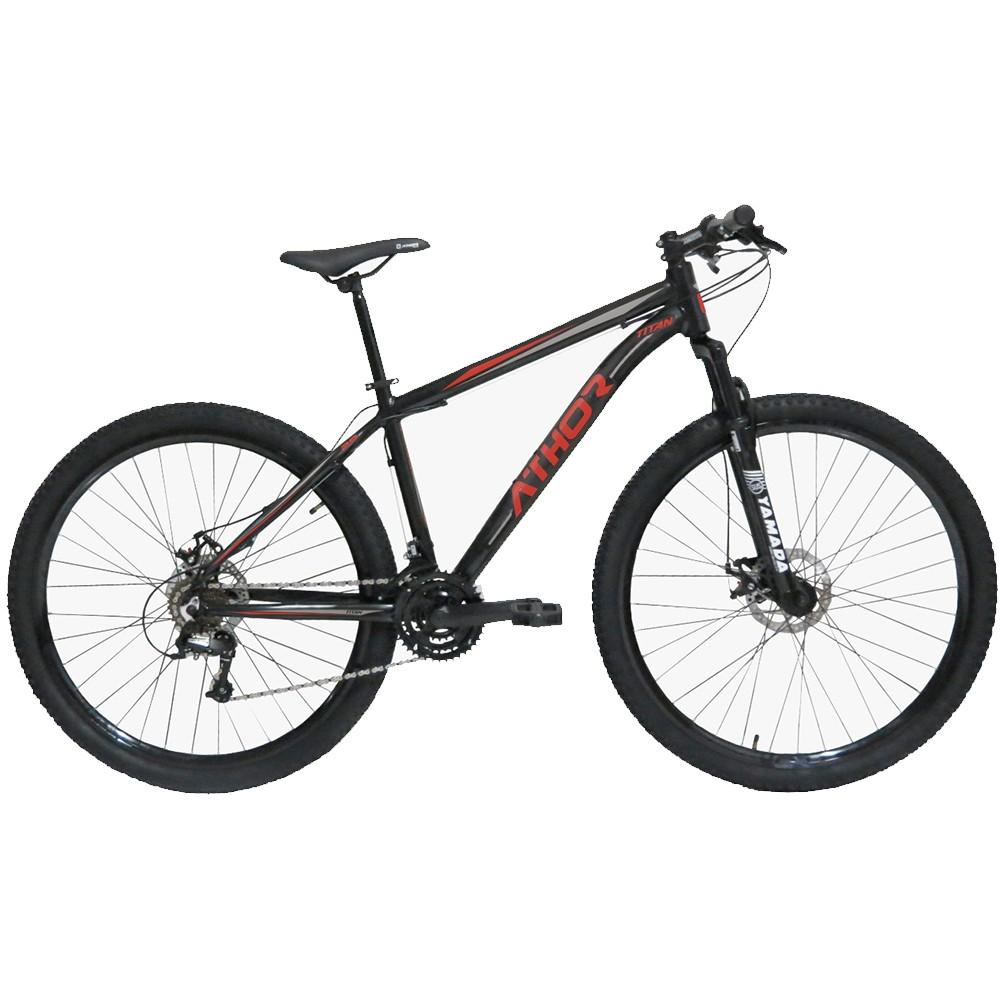 Bicicleta Athor Titan Mtb Aro 29 Atr 21v Preto Vermelho