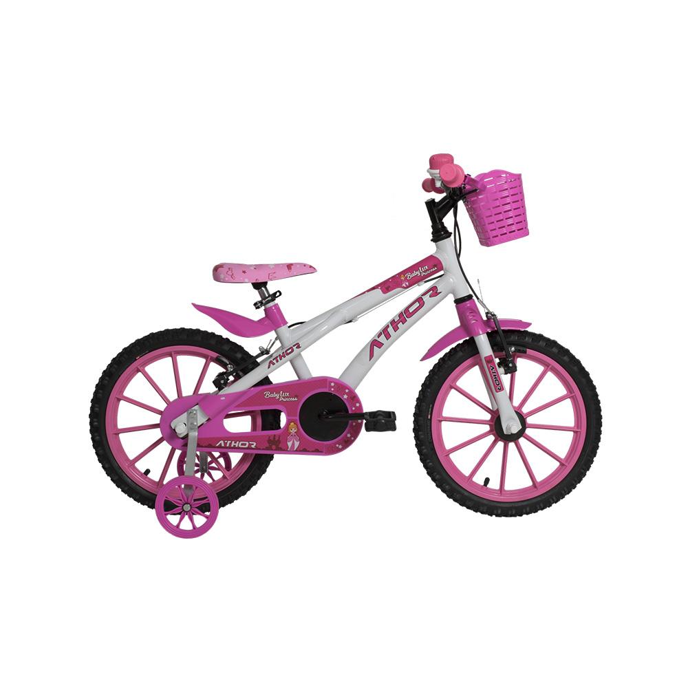 Bicicleta Infantil Aro 16 Athor Baby Lux Princess Feminina