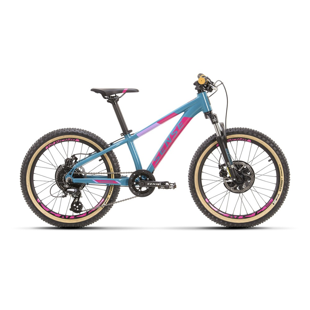 Bicicleta Sense Grom 2021/22 Infantil Mtb Aro 20 Rosa/Aqua