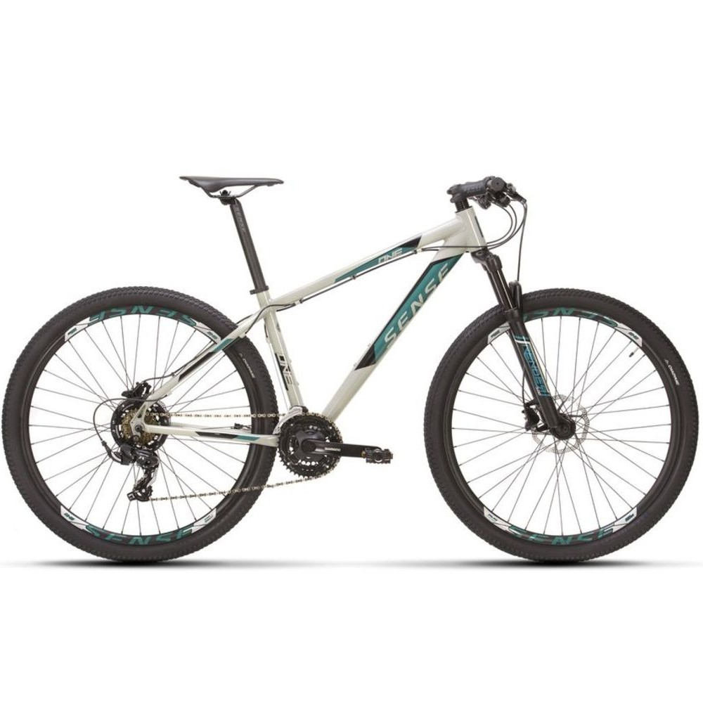Bicicleta Sense One 2021/22 Mtb Aro 29 Tourney 21v Cinza