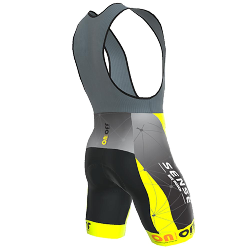 Bretelle Ert Sense Forro Gel On Off Ciclismo Mtb Amarelo 6.0
