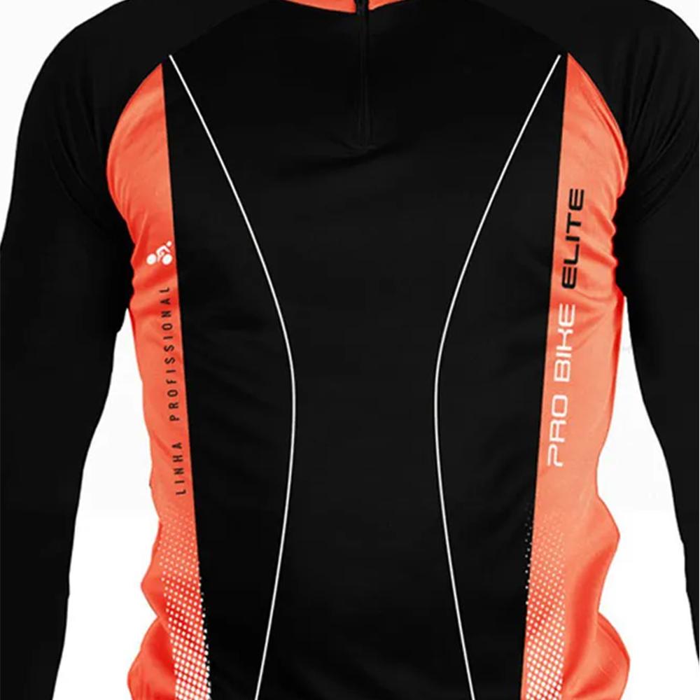 Camisa Blusa Elite Bike 125869 Masculina Ciclismo Laranja