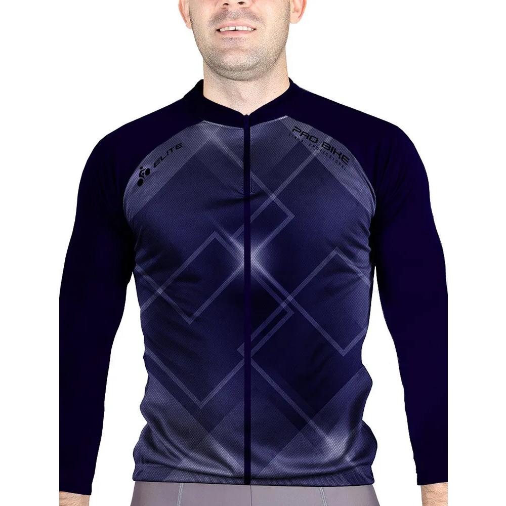 Camisa Blusa Elite Bike 125999 Masculina Ciclismo Marinho