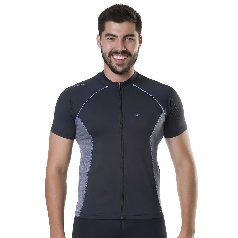 Camisa Blusa Elite Bike 135047 Masculina Ciclismo Preto