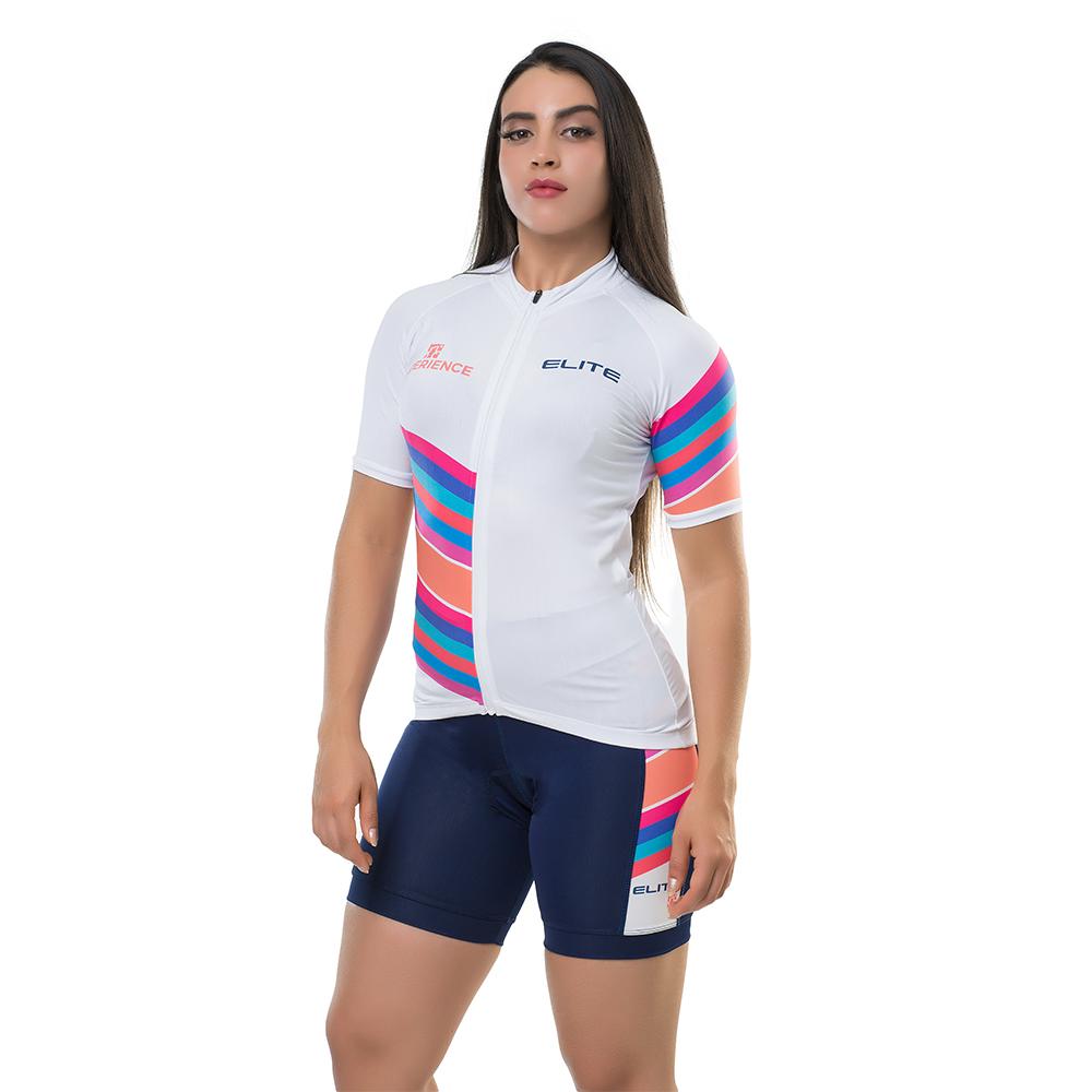 Camisa Elite Bike Ciclismo Mtb Feminina Branco 135166
