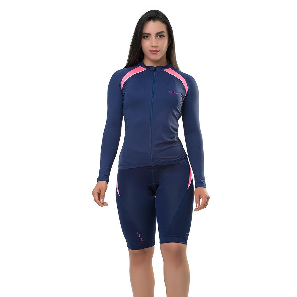 Camisa Elite Bike Ciclismo Mtb Feminina Marinho 135167