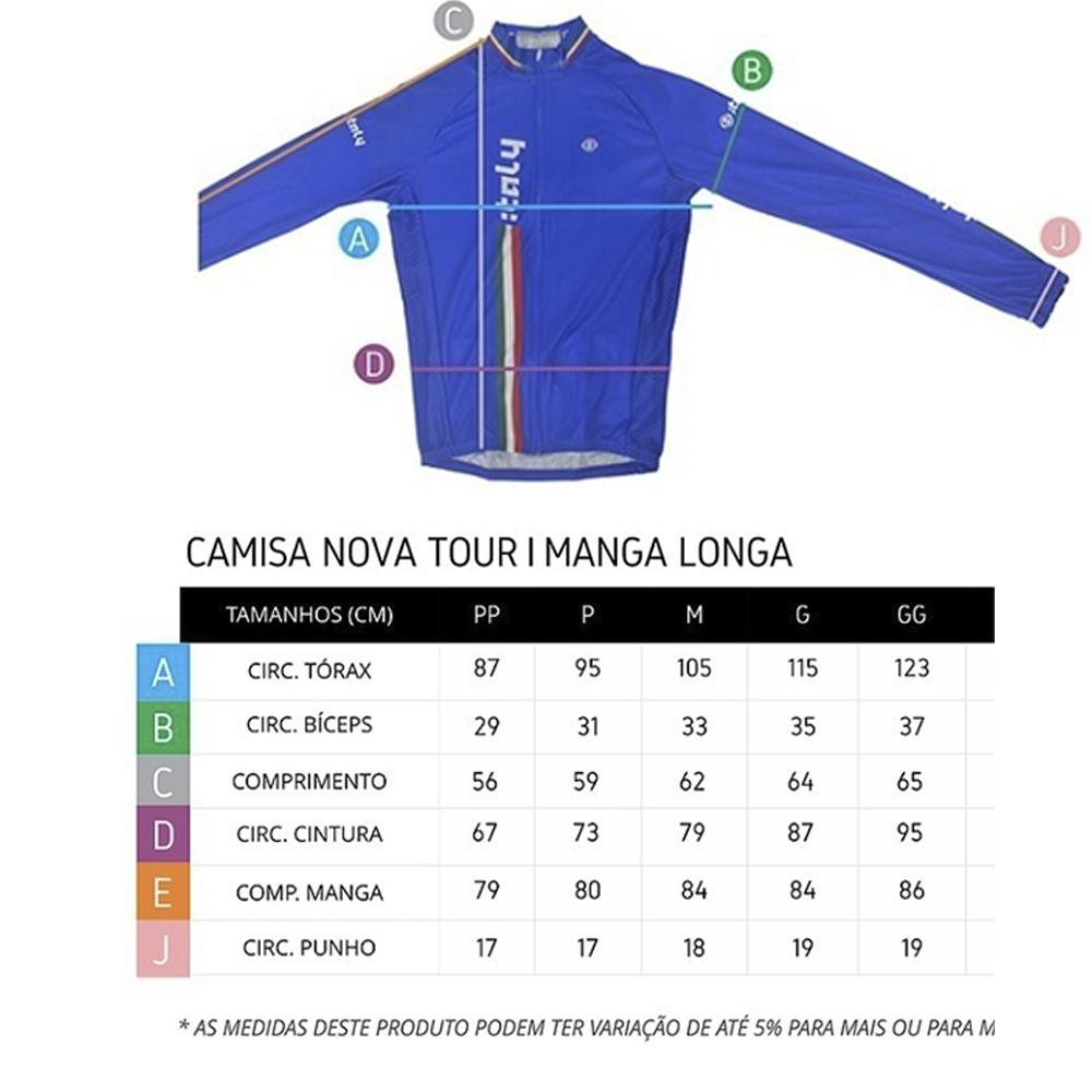 Camisa Ert Sense Manga Longa On Off Ciclismo Mtb Azul 1.3