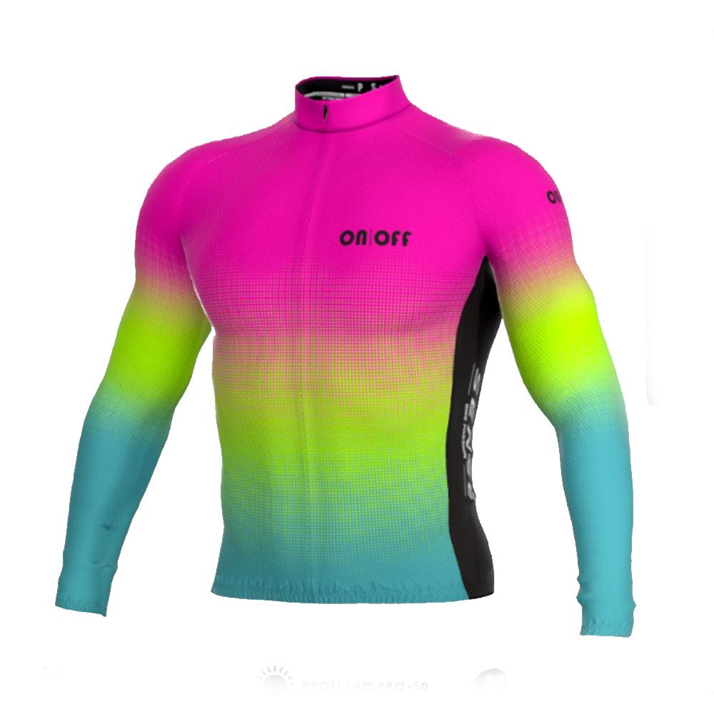 Camisa Ert Sense Manga Longa On Off Pink Fun Ciclismo Mtb 4.0