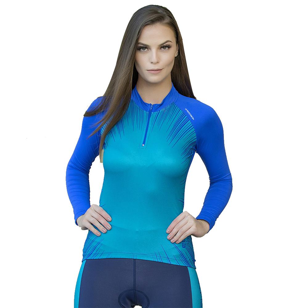 Camiseta Blusa Elite Bike 125944 Feminina Ciclismo Royal